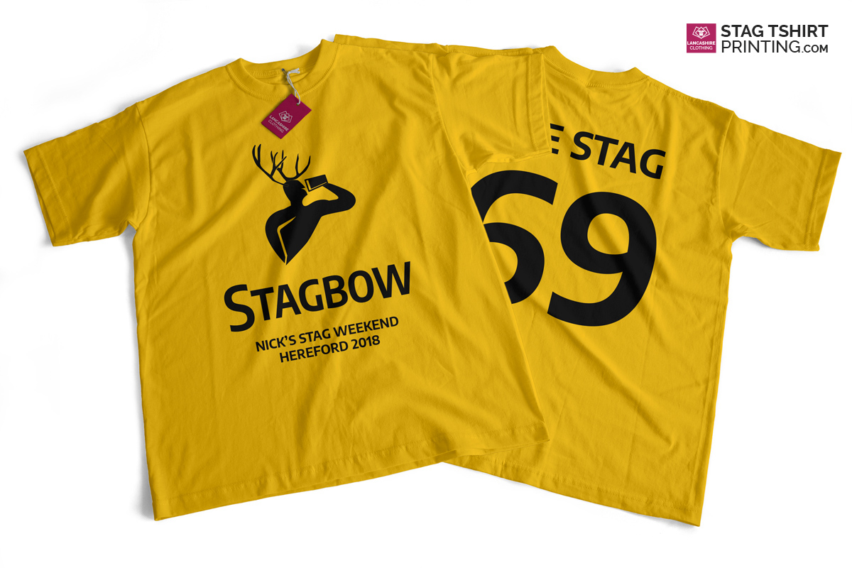 Yellow and Black Stag T-Shirt Design