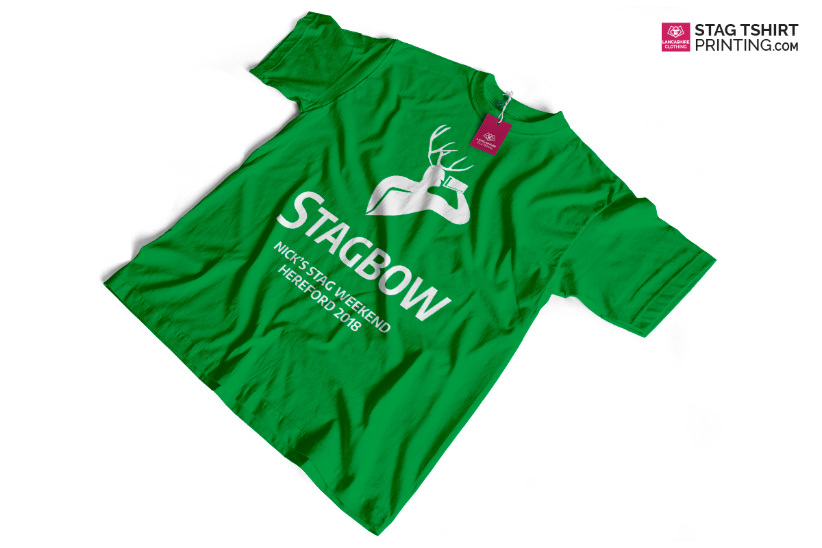 Green Stag T-Shirt Design