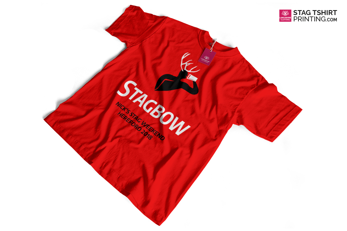 Red, Black and White Stag T-Shirt Design
