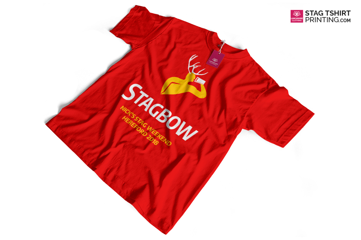 Red, Yellow and White Stag T-Shirt Design